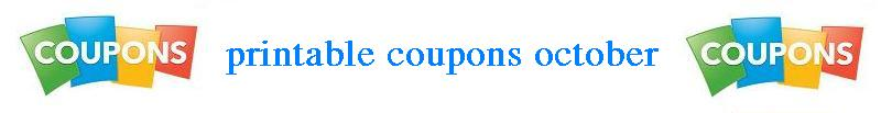 printable coupons october 2012