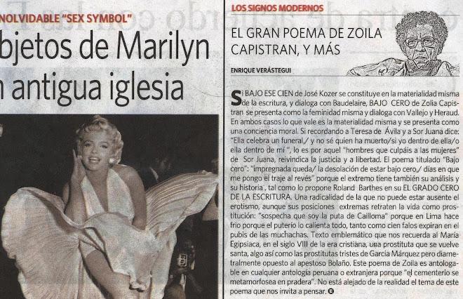 Los Signos  Modernos, El gran Poema de Zoila Capristán  Y Más/ Por Enrique Verástegui.