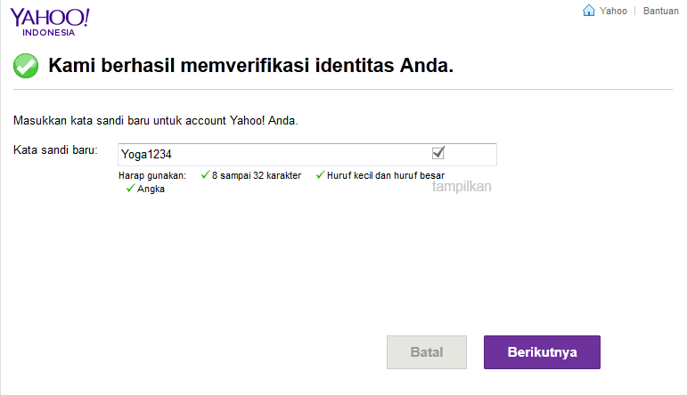 Solusi Lupa Password Email (Yahoo)