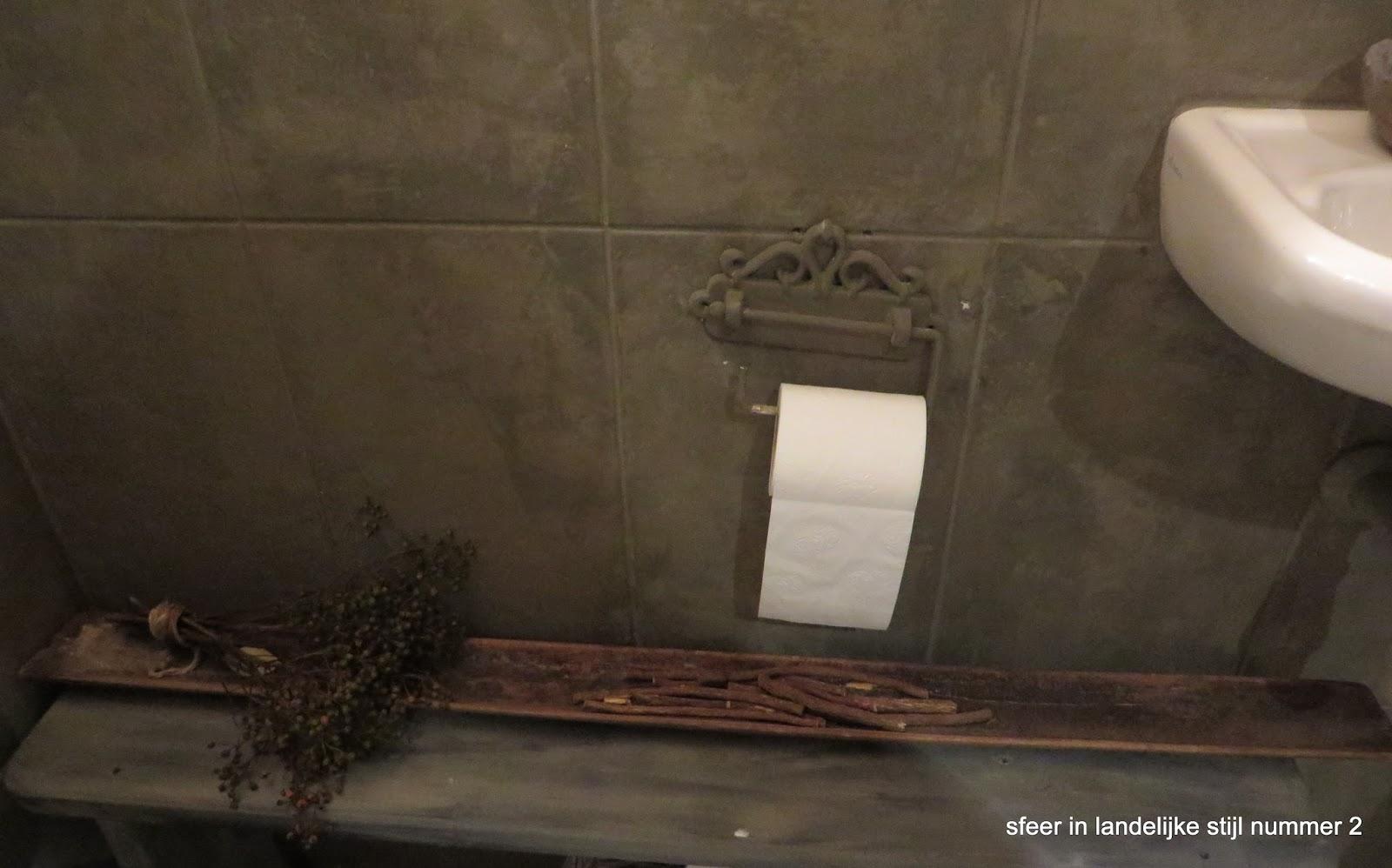 Sfeer in landelijke stijl nummer 2 toilet - Wc kleur ...