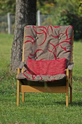 puristischer Sessel 60er Jahre