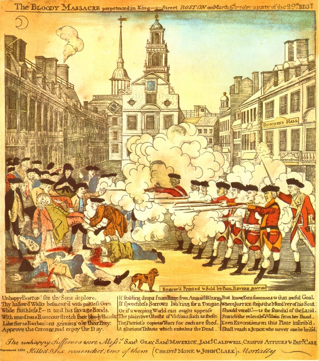 the boston massacre The boston massacre was the killing of five colonists by british soldiers on march 5, 1770 it was the culmination of civilian-military tensions that had been growing since royal troops first appeared in massachusetts in october 1768 to enforce the heavy tax burden imposed by the townshend acts.