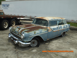 1955 pontiac safari station wagon retro collection abadoned florida