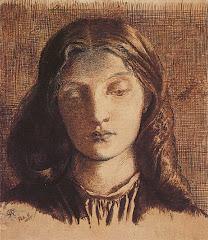 Portrait of Elizabeth Siddal, by Dante Gabriel Rossetti - 1855
