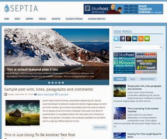 Septia Blogger Template
