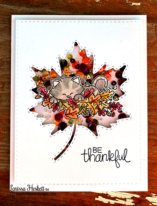 Be Thankful Card by Larissa Heskett | Hello Fall Stamp set by Newtons Nook Designs #newtonsnook #fall