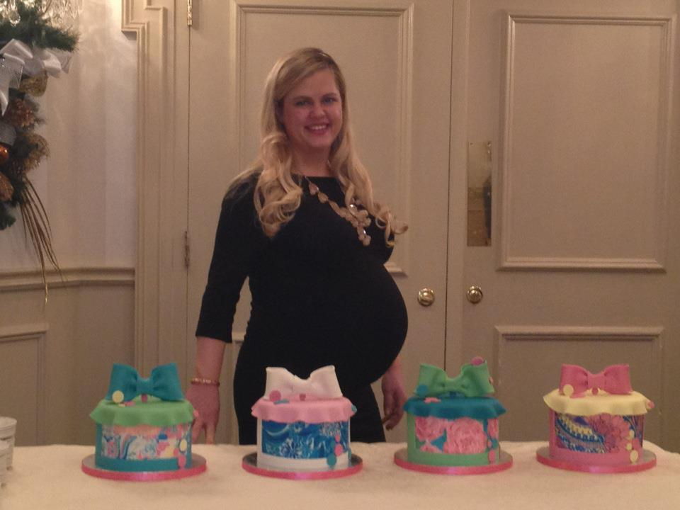 Maryland Pink and Green Lilly Inspired Baby Shower and