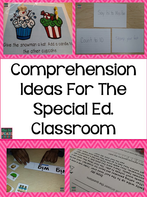 comprehension- special education- reading