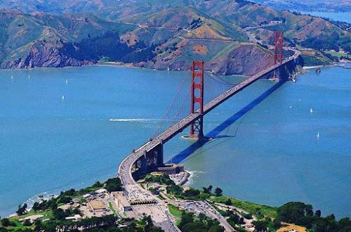 PONTE GOLDEN GATE BRIDGE - PORTÃO DE OURO EM SÃO FRANCISCO NA CALIFÓRNIA