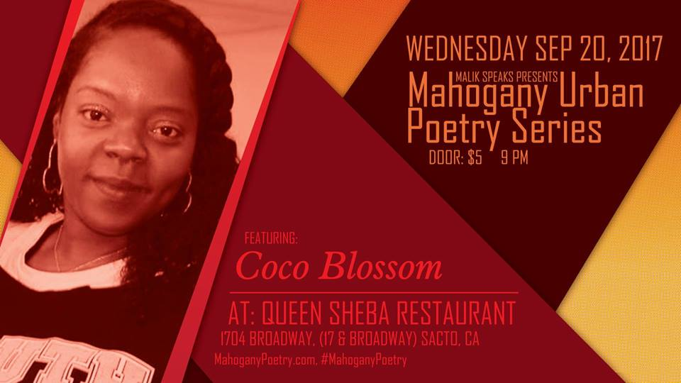 COCO BLOSSOM at Mahogany Urban Poetry Series Wed. (9/20)