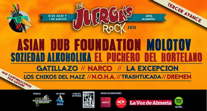 The Juerga´s Rock 2015 (Adra - Almería) 31 de Julio y 1 de Agosto