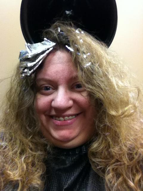 Burgandy And Blonde Chunky Lowlights N Highlights - Dark Brown Hairs