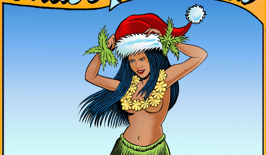 Hula Girls And Tiki Gods Mele Kalikimaka