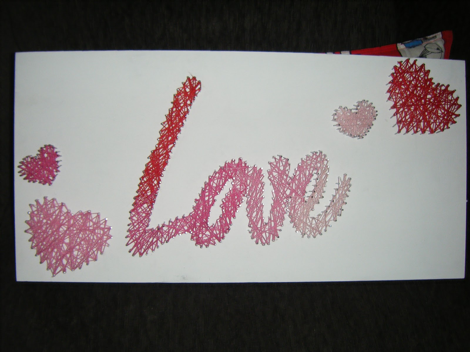 Luckys crafts love string art tutorial love string art baditri Image collections