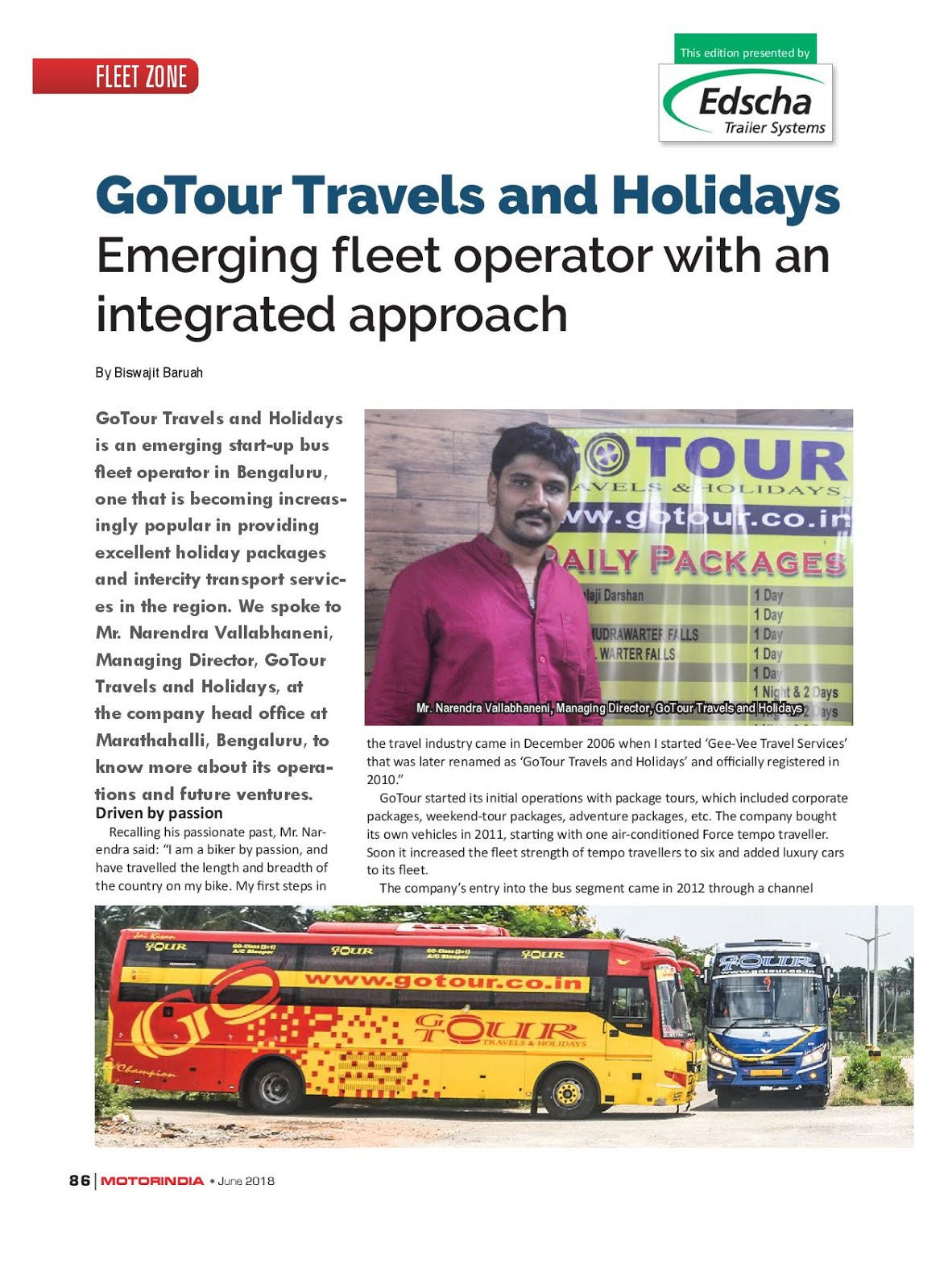 MOTOR INDIA ARTICLE 27 : GO TOUR