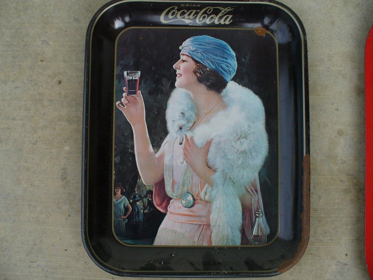Coca cola vintage trays