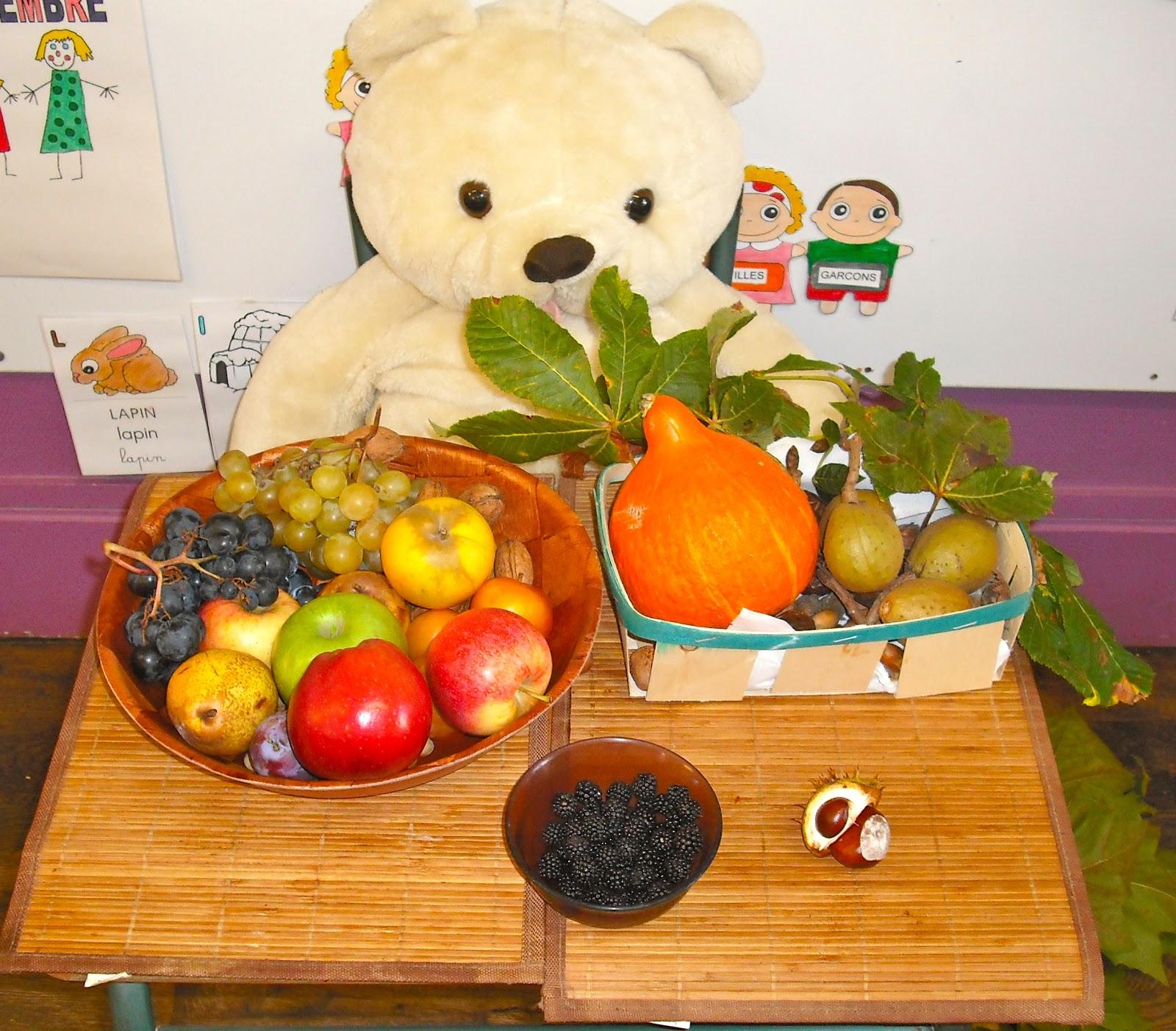 Ecole maternelle vitteaux octobre 2012 - Fruits automne maternelle ...