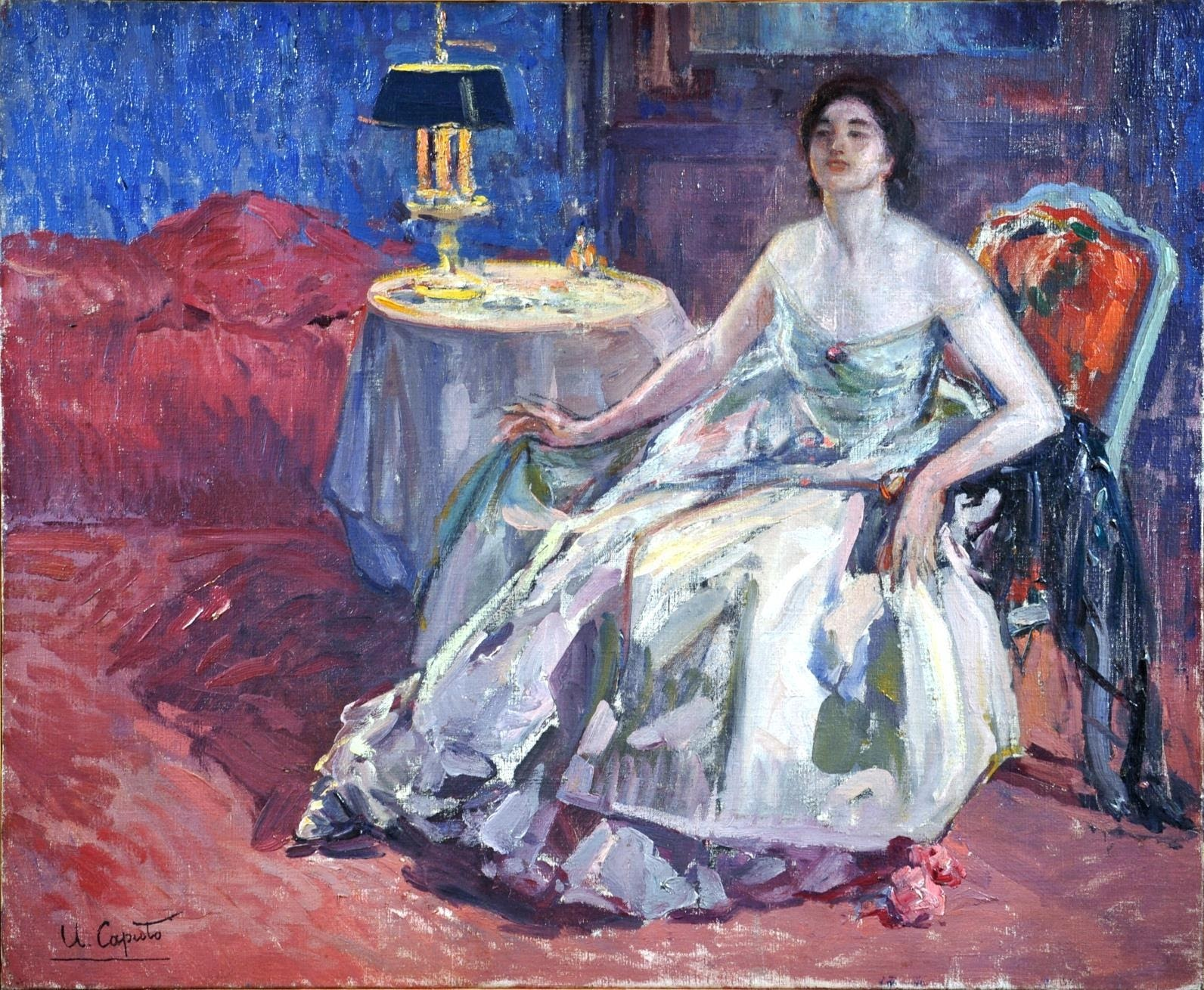 Ulisse Caputo Woman in an Interior