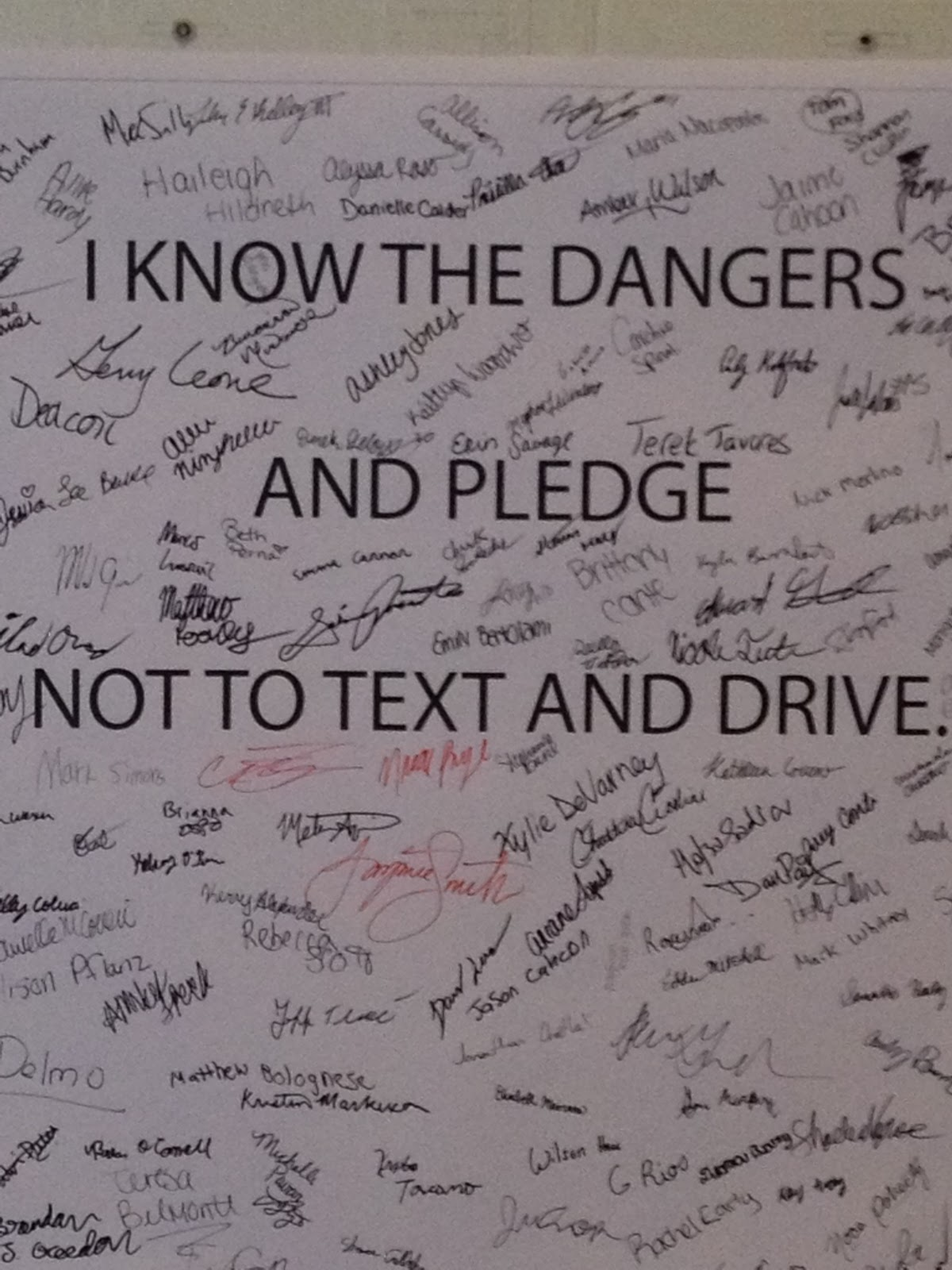 I pledge to not text and drive essay