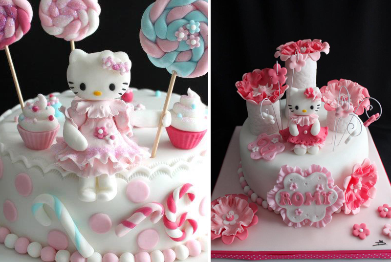 decoration gateau hello kitty