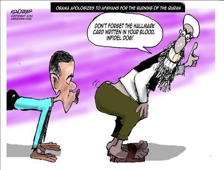 obama kisses enemy butt