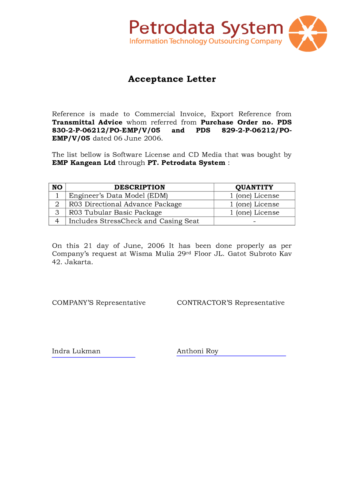 Dini Safitri THE STYLES AND TYPES OF BUSINESS LETTER – Purchase Order Letter Format