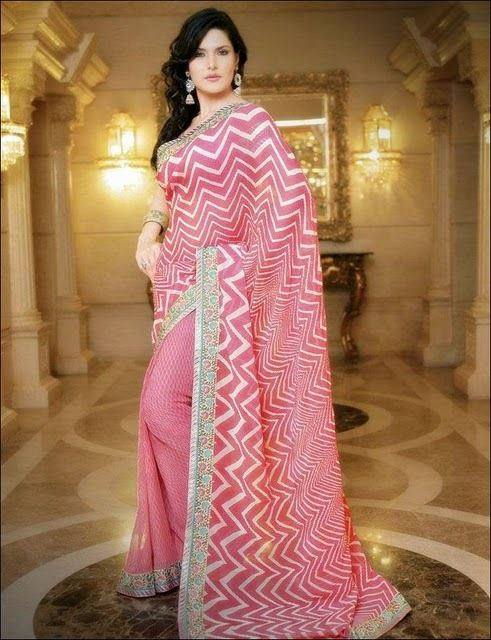 zarine khan in saree hot photoshoot