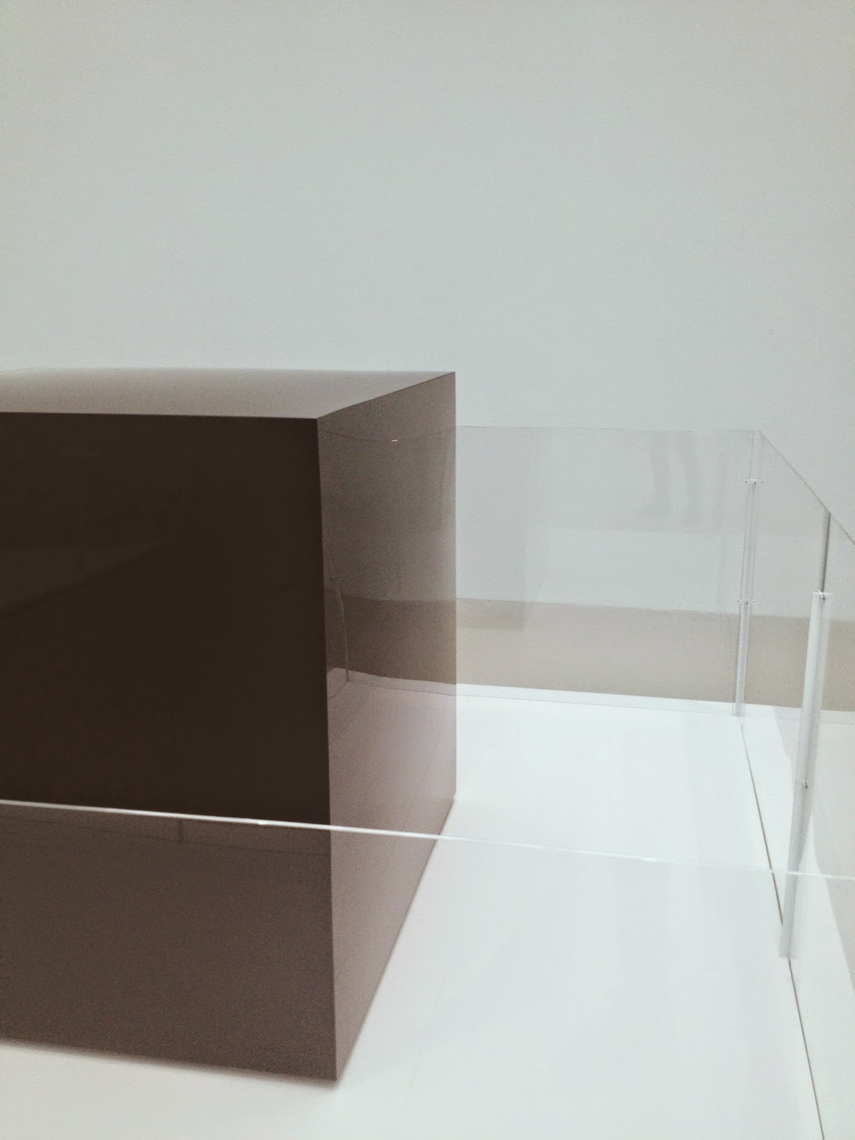 black, glass cube at corning museum of glass