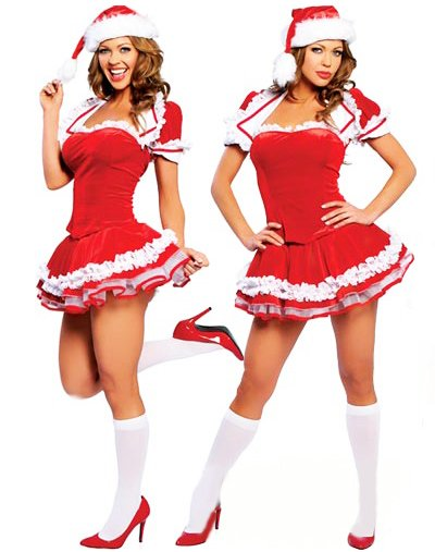 santa claus girls