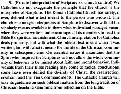 Private Interpretation of Scripture for Roman Catholics
