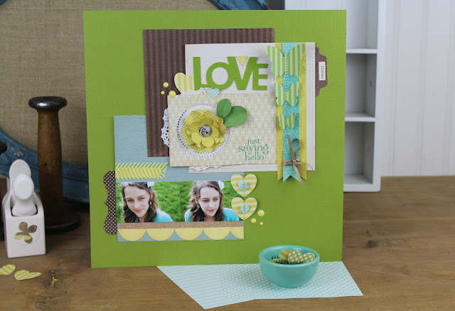 Product Playground: #scrapbooking class on how to use paper pads and paper punches on a scrapbooking layout. http://www.bigpictureclasses.com/classes/PP-01