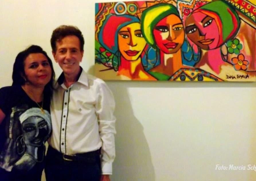 Dina Garcia e Ailton Pitombo colunista social de Feira de Santana
