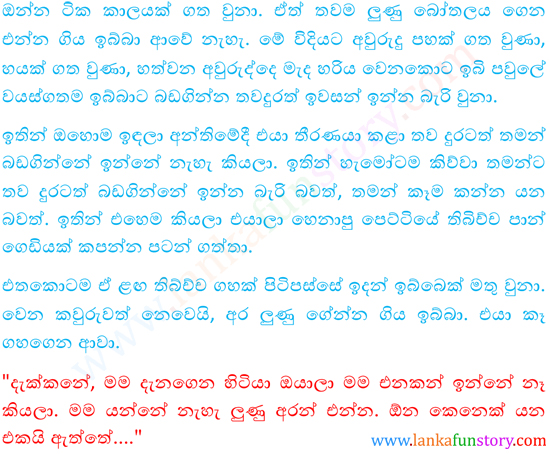 Sinhala Fun Stories-Family of Tortoise-Part Two