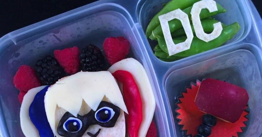& Lunchbox Dad: How to Make a Harley Quinn DC Superhero Girls Lunch Aboutintivar.Com
