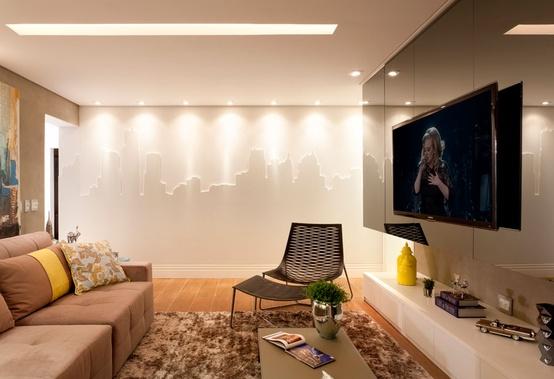 Decoracao De Sala Com Tv Na Parede ~ decoracao de sala tv na paredeInstalação de TV na parede, e agora