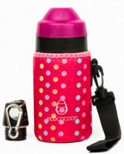 Ecococoon pink spotty bottle cuddler