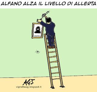 Alfano terrorismo vignetta satira