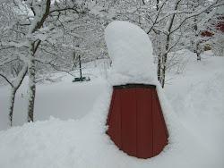 Kaivo hautautuu lumeen..