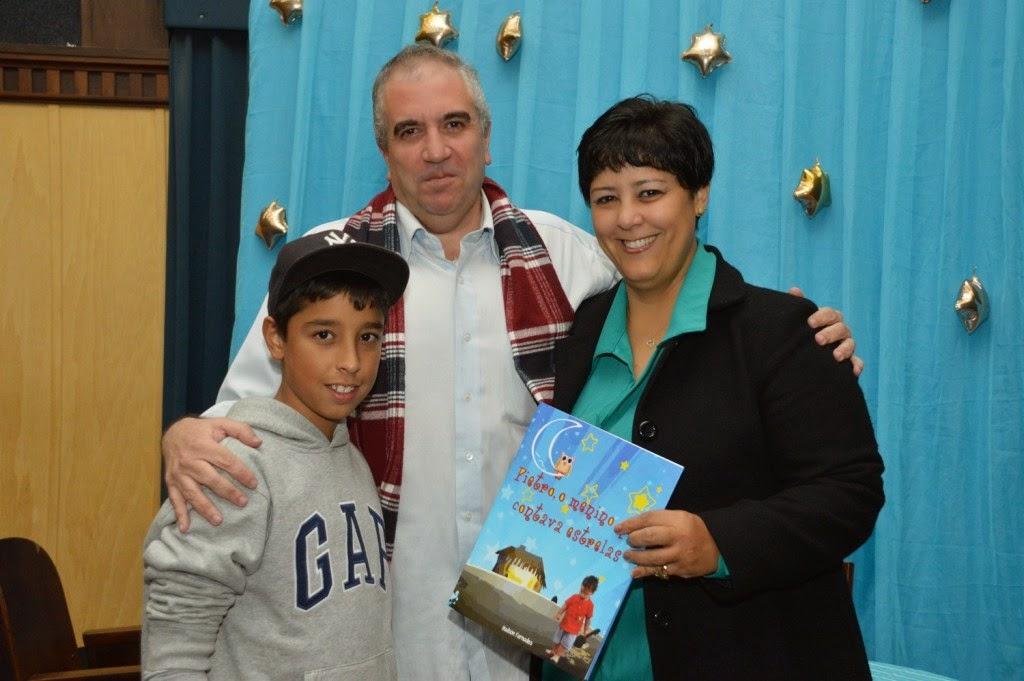Hudson Fernandes com Valéria Tricano e seu filho Pedro