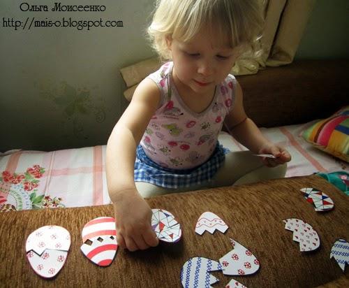 пасхальный переполох, самодельная настольная игра для малышей