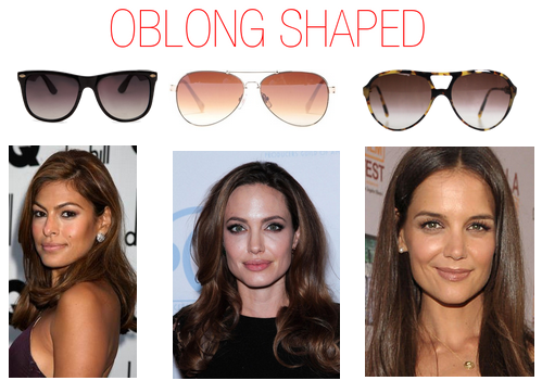 Which sunglasses to wear when you have a oblong shaped face - Eva Mendes, Angelina Jolie
