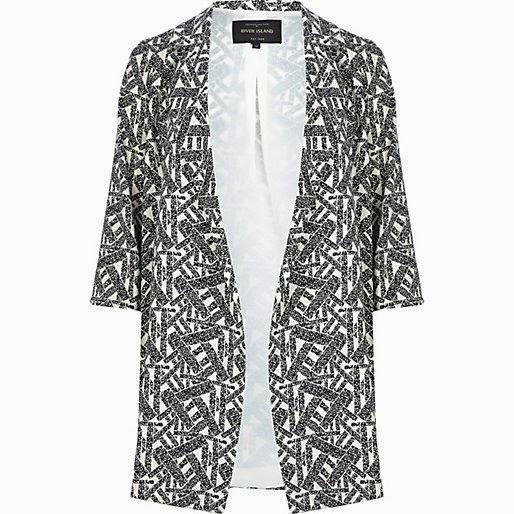 duster jacket in pattern