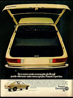 propaganda Volkswagen Passat - 1976. brazilian advertising cars in the 70. os anos 70. história da década de 70; Brazil in the 70s; propaganda carros anos 70; Oswaldo Hernandez;