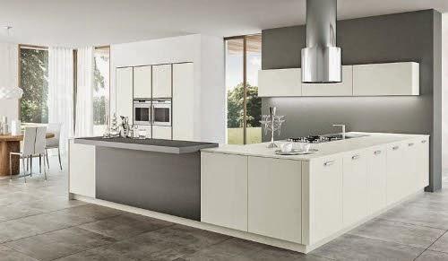 modern white and clean kitchen interior design