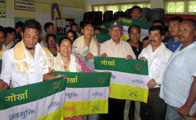 GNLF leader Roshan Rai with 27 families joins GJMM