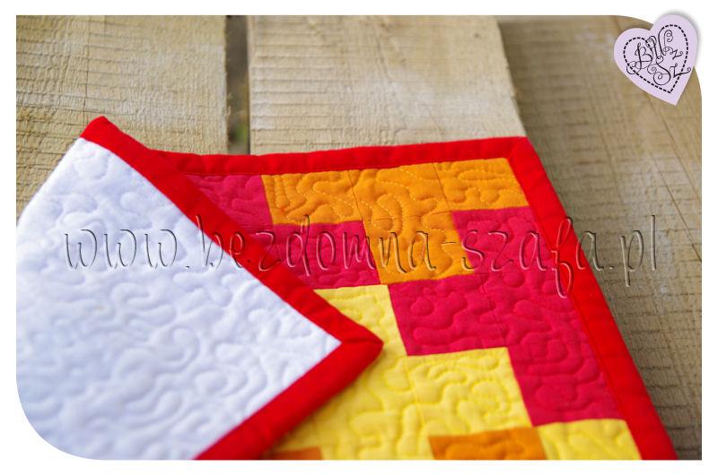 bieżnik patchwork lamówka i spód