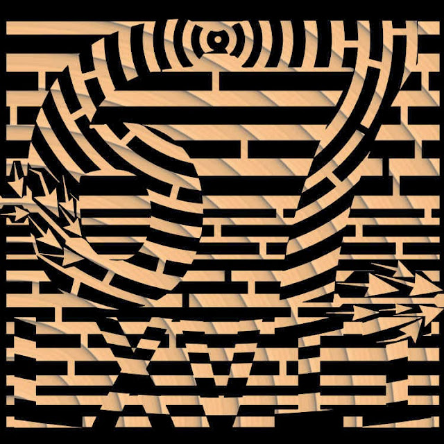 op art style maze - primaze 67