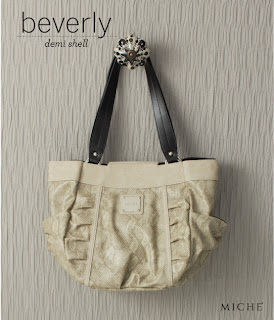 Miche Beverly Almond Snakeskin Demi Shell