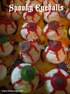 Mini Doughnut Spooky Eyeball Halloween Treats