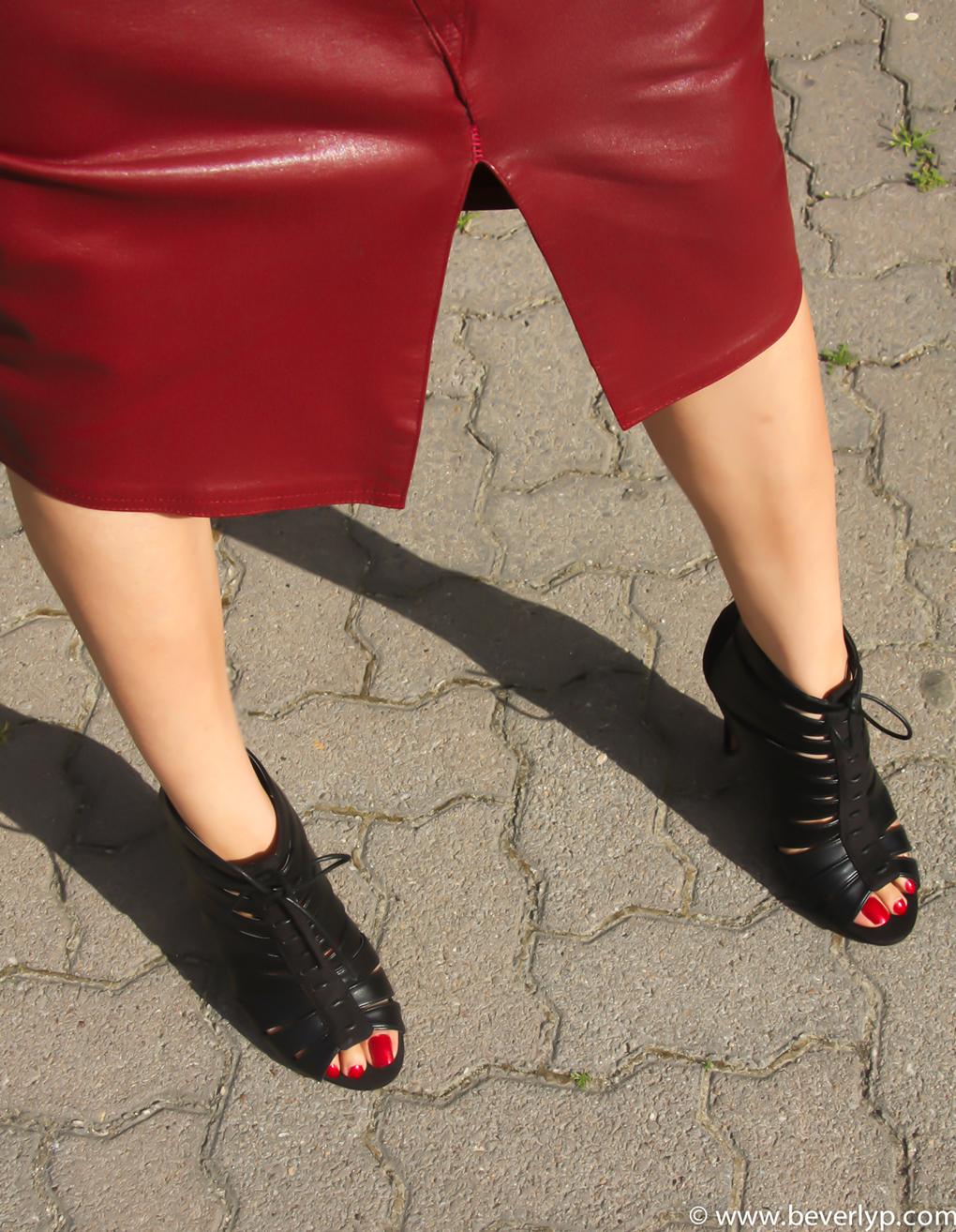 peep toes botines